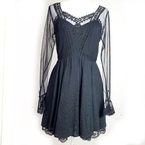 Free people long Sleeve Victoria Lace Dress Size 6